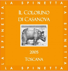 Colorino wine label