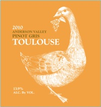 Toulouse Anderson Valley Pinot Gris 2010